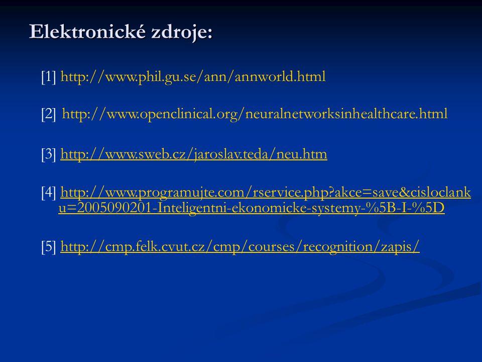 Elektronické zdroje: [1] http://www.phil.gu.se/ann/annworld.html